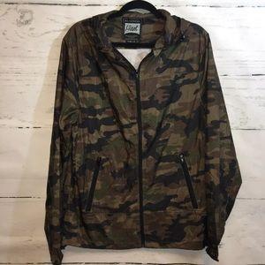 Beautiful Giant Green Camouflage Full Zip Jacket